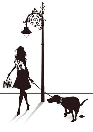 obediencia: Perro en la calle