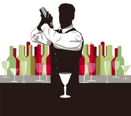 night bar: C�ctel de mezcla