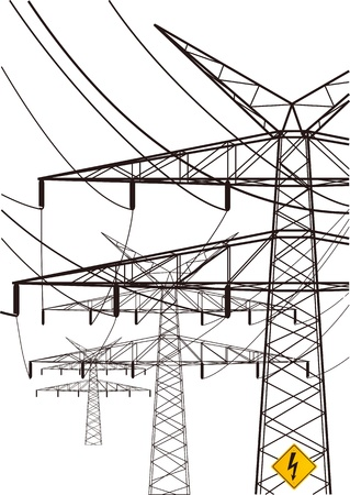 power line Stock Vector - 11295269