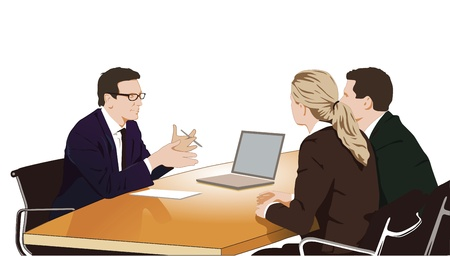 クライアント: 相談および議論  イラスト・ベクター素材