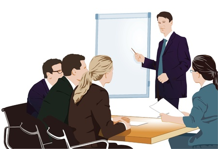 Lecture and training Stock Vector - 11485622