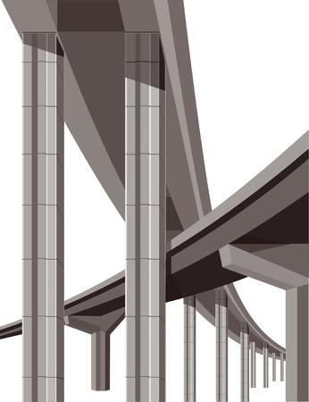 Highway bridges Vector