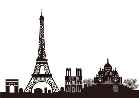 Paris skyline Stock Vector - 11485623