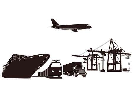 cargo ship: Transport and loading Illustration