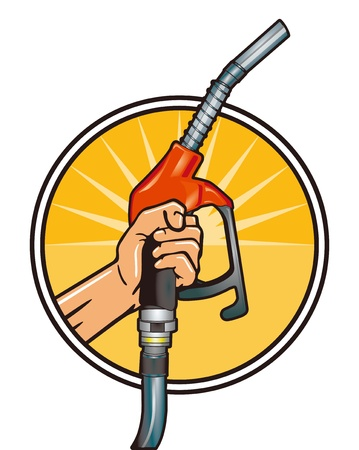 bomba de gasolina: Rellene econ�mica Vectores