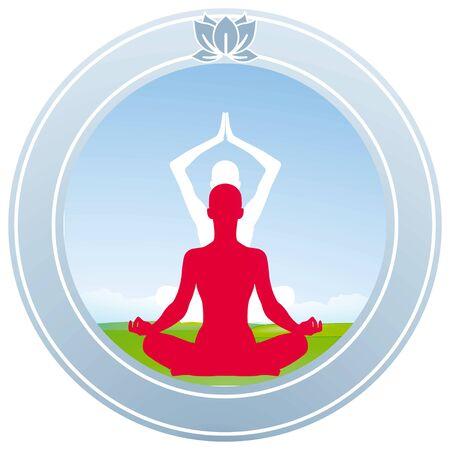 sitting meditation: Yoga Lotus characters