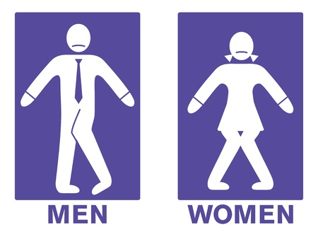 male symbol: toilet sign