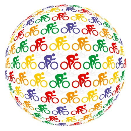 Colourful cyclists Stock Vector - 11464510