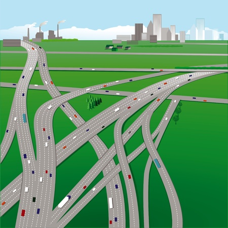 highways Stock Vector - 11663933