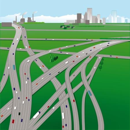 highways Stock Vector - 11663933