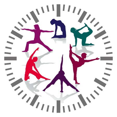 healthy exercise: gym hours Illustration