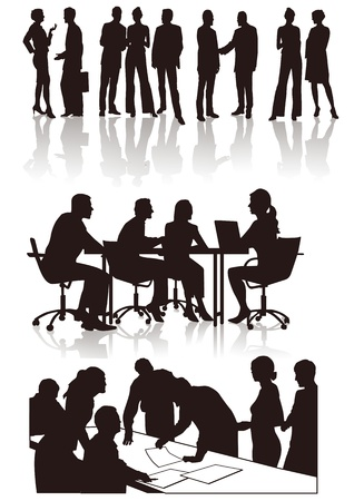 sales meeting: People in the office Illustration