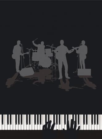 Band and Piano Vector