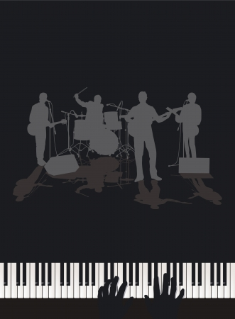 the bands: Band and Piano