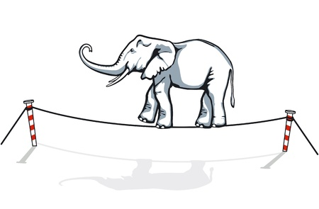 elephant balancing Illustration