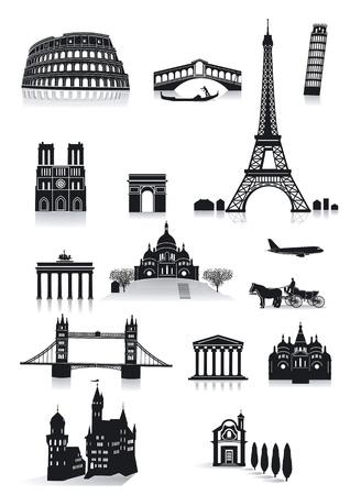 the colosseum: sightseeing Illustration