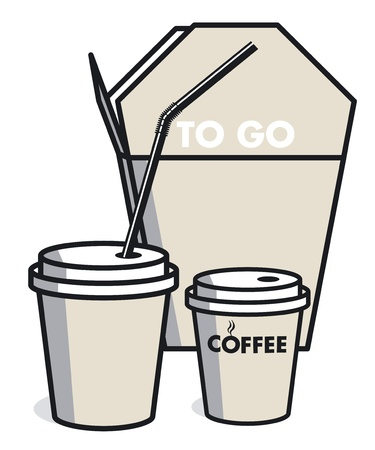 coffee to go: coffee and meal to go