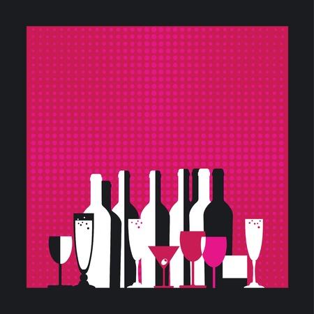 brandy glass: Spirits on the background grid