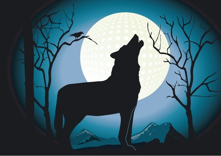 Wolf in the Night Stock Vector - 12033465