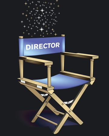 directeur: Directeur Chair Stock Illustratie