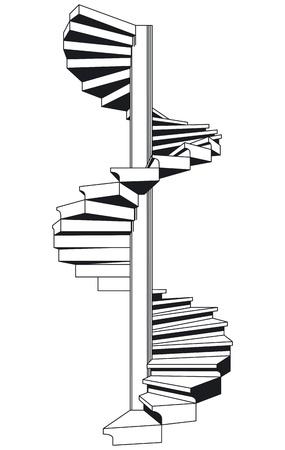 spiral staircase Stock Vector - 12062389