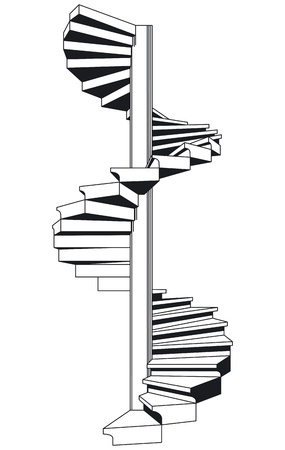 spiral staircase: spiral staircase Illustration
