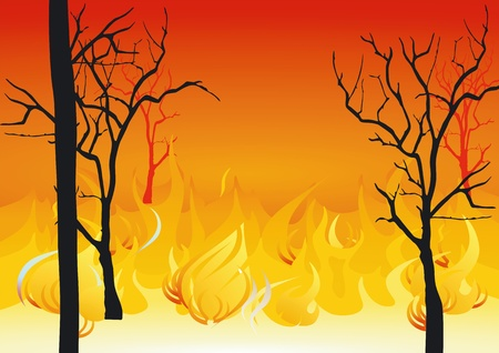 forest fires Stock Vector - 12062403