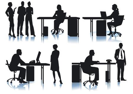 Empresarios y empleados de la oficina Ilustración de vector