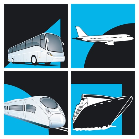 times: four times the transport Illustration