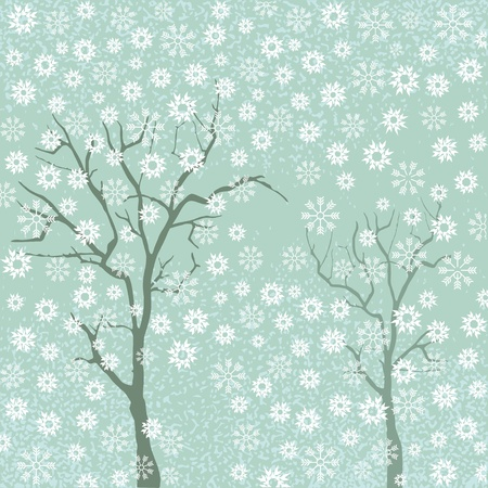 Trees with snowflakes Stock Vector - 12385219