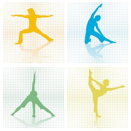 four x gymnastics studio Stock Vector - 12385229