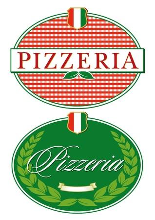 mozzarella cheese: Pizza Restaurant sign