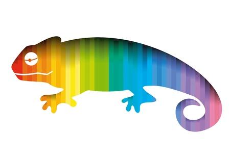 chameleon lizard: camaleonte Vettoriali