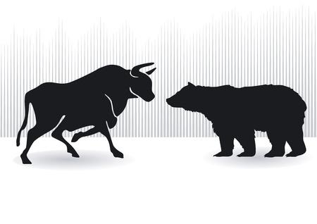 toros bravos: Toros y osos