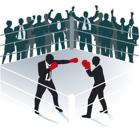 boxing match: Business boxing match