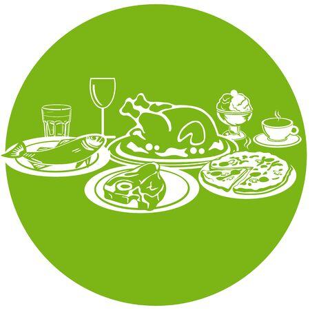 pollos asados: Iconos de alimentos