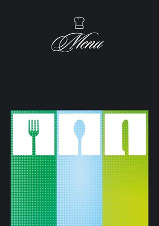 restaurant menu card on black Vector