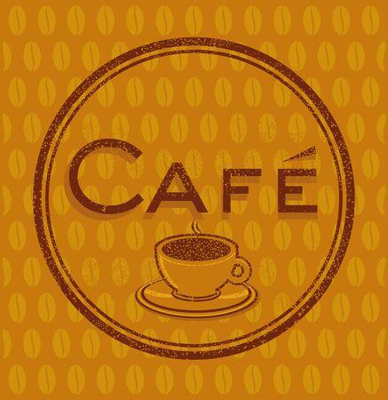 cafe sign: Coffeehouse Cafe sign Illustration