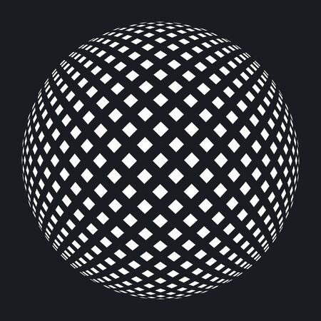 indicative: Ball grid on black Illustration