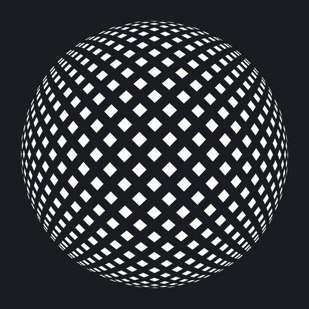 Ball grid on black Çizim