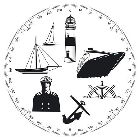 Maritime symbols Vector