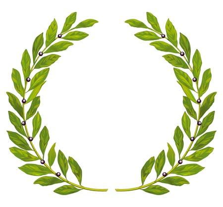 laureles: Corona de laurel y el laurel
