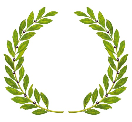 laurels: Laurel wreath and laurel