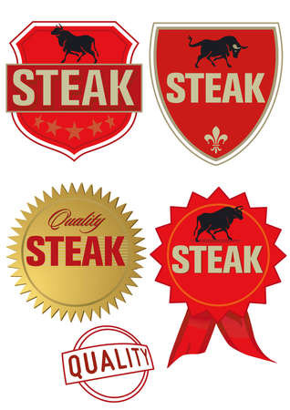 Steak Label Vector
