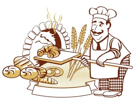 panadero: Baker, en el horno
