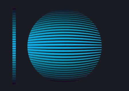 abstract illuminated ball