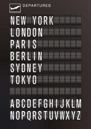 timetable: Aeroporto di calendario Vettoriali