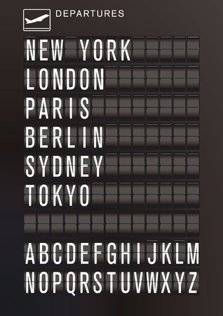 Aeropuerto calendario Ilustración de vector