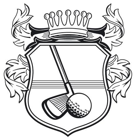 Golf club coat of arms Vector
