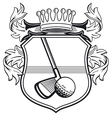 golfclub: Golfclub wapen Stock Illustratie